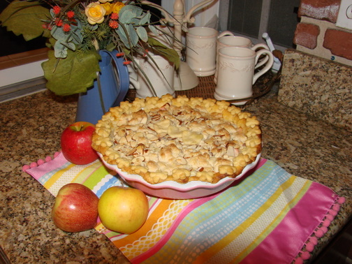 Italian Apple-Mascarpone Pie with Almond Topping